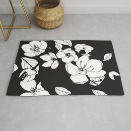 Blossoming Crabapple Flowers Rug