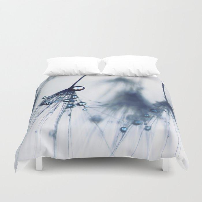 dandelion - blue Duvet Cover