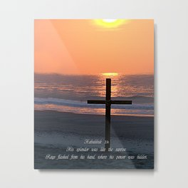 Easter Sunday cross at Myrtle Beach Metal Print