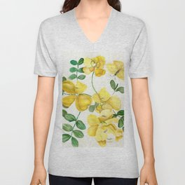 Butterflies and Blooms Unisex V-Neck