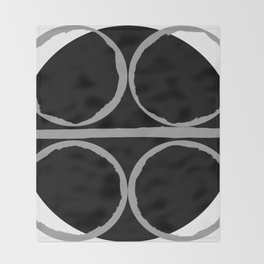 Circles in Perfect Harmony Throw Blanket