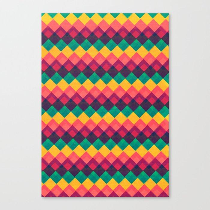 Happy Day Pattern Canvas Print