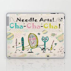 Needle Arts! Cha-Cha-Cha! Laptop & iPad Skin