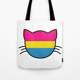 Pansexual Flag Cat Tote Bag