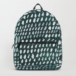 White and Teal Dots Pattern Backpack