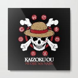 Mugiwara Kaizoku Metal Print