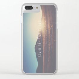 adventure awaits you ... Clear iPhone Case