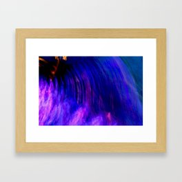 Abstract Purple Mist With A Dash Of Orange Framed Art Print