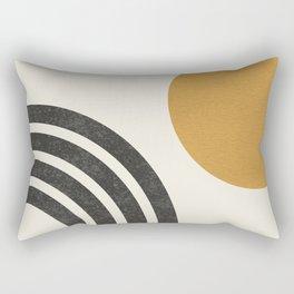 Mid century modern landscape - Sun & Rainbow  Rectangular Pillow