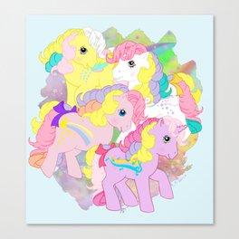 g1 my little pony rainbow curl ponies Canvas Print