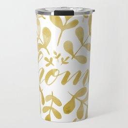 Watercolor home foliage – yellow Travel Mug