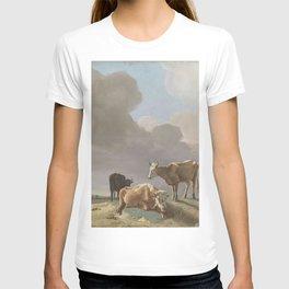Jean-Etienne Liotard - Landschap met koeien, schapen en herderin, gewijzigde kopie naar een schilder T-shirt