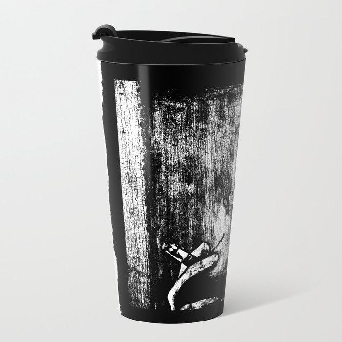 SMOKE - black version Metal Travel Mug