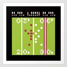 Minimal NES: Tecmo Bowl Art Print