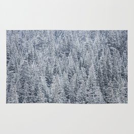 The Snow Frost Trees (Color) Rug