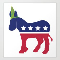 Wheres the Party at Democrat Art Print