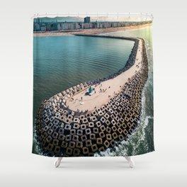 Coast of Belgium Shower Curtain