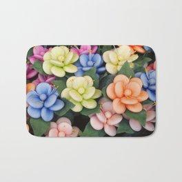 Sugared almonds as petals Bath Mat