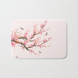 Pink Cherry Blossom Dream Bath Mat