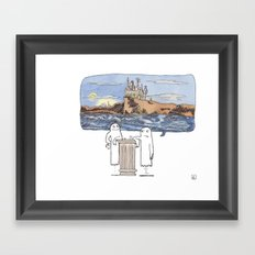I Used to Haunt This Place... Framed Art Print