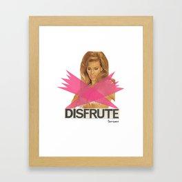 DISFRUTE Framed Art Print