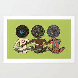 Pride Love Booties Art Print
