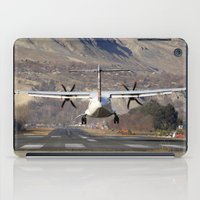 aviation iPad Cases featuring ATR ATR-42-500 Aviation Scenic Dangerous No way out Landing aircraft by Aviator
