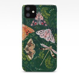 Moths and dragonfly iPhone Case