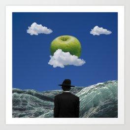 Apple Magritte Art Print