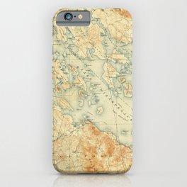 Vintage Map of Lake Winnipesaukee (1907) iPhone Case