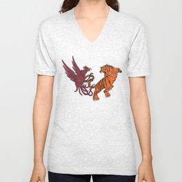 Cocks vs Tigers Unisex V-Neck