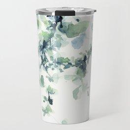fresh green leaves Travel Mug