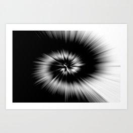 TIE DYE #1 (Black & White) Art Print