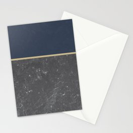 Blue Meets Grey Concrete #1 #decor #art #society6 Stationery Cards
