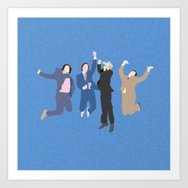 The Channel 4 news team Art Print