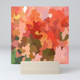 red Shades pattern Mini Art Print