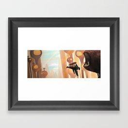 Flying boat Framed Art Print