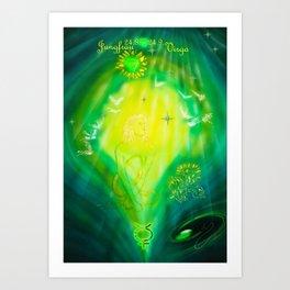 Zodiac sign Virgo  2 Art Print