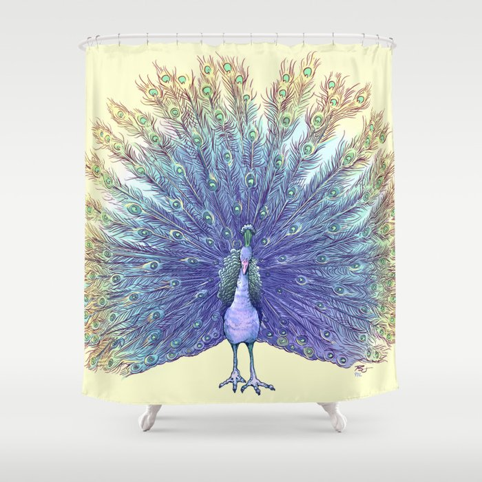 Peacock Shower Curtain By Piratesofbrooklyn