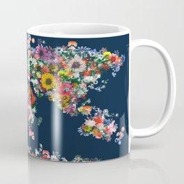 world map floral Coffee Mug