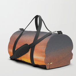 Sunburst sunset in Salt Lake City, Utah Duffle Bag