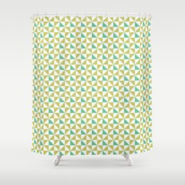 Geometric pattern Earth color Shower Curtain