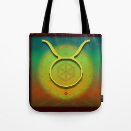 Flower of Life TAURUS Astrology Design Tote Bag