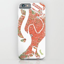 Venice city map classic iPhone Case