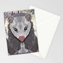 Ornate Opossum Stationery Cards