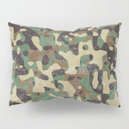 Distressed Army Camo Pillow Sham