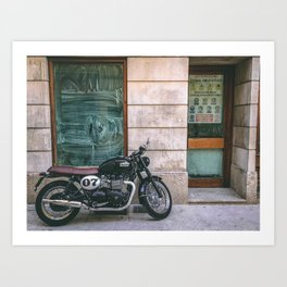 Bike in Majorca Art Print