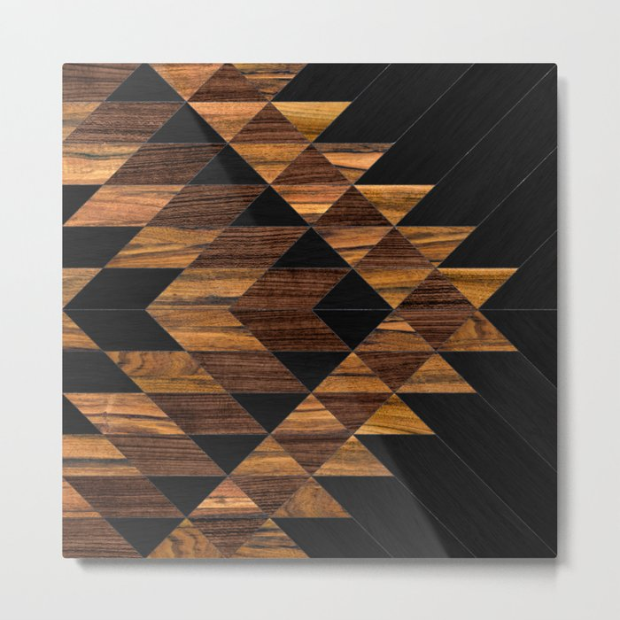 Urban Tribal Pattern 11 - Aztec - Wood Metal Print