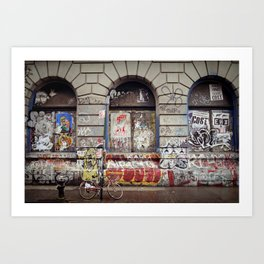 on the Bowery... Art Print