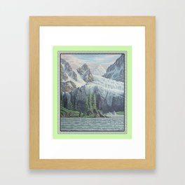 HIDDEN TOWER IN THE INLAND PASSAGE VINTAGE OIL PAINTING Framed Art Print